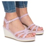 Sandálias de cunha roxa Glavel roxo