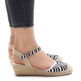 Sandálias de zebra na cunha LLI-3M88-7 alpargatas