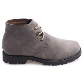 Sapatos Casuais Altos Amarrados 81909 Taupe