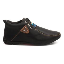 Sapatos de aquecimento elevado atados WF622-3 preto