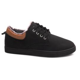 Sapatilhas isoladas com pele E655-1 preto