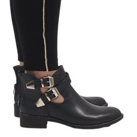 Ideal Shoes marinha Botinhas abertas azul-marinho Y8157