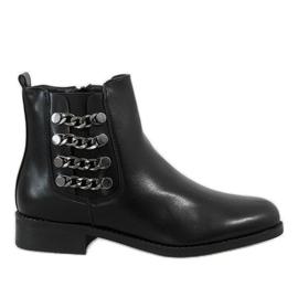 Kayla Shoes Botas isoladas pretas 8961 preto