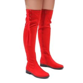 Foreverfolie vermelho Botas quentes de camurça vermelha H308