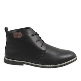 Sapatos masculinos com isolamento preto 989-1