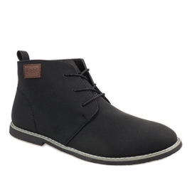 Sapatos masculinos com isolamento preto 989-2