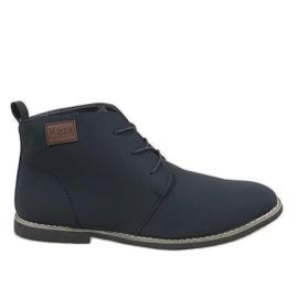 Marinha Sapatos masculinos azuis isolados 989-3