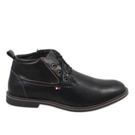 Sapatos masculinos com isolamento preto 9W-BK86417