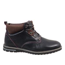 Marinha Sapatos masculinos com isolamento azul escuro 7006