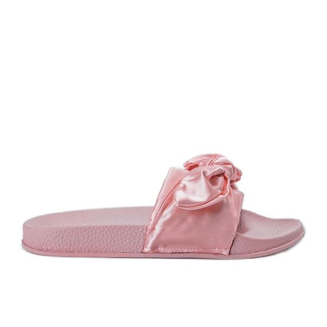 Chinelos rosa com laço 5835