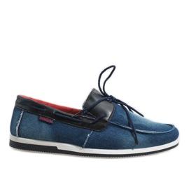 Marinha Sapatos de mocassim elegante azul escuro AB108-1