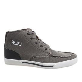 Sapatos altos elegantes marrom F10455