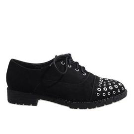 Sapatos pretos Jazzówki Czwieki ST2721