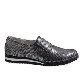 Sapatos de renda cinza TL-33