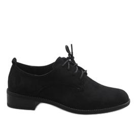 Sapatos de jazz preto com sapatos de camurça C-7183