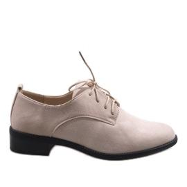 Marrom Sapatos de jazz bege com sapatos de camurça C-7183