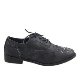 Sapatos pretos Jazzówki Ćwieki 138-P