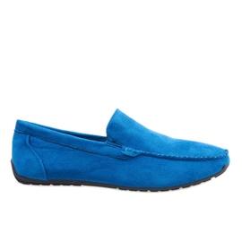 Sapatos de mocassim elegantes azul escuro AB07-6