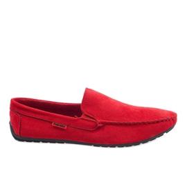 Mocassins elegantes vermelhos AB96K-2