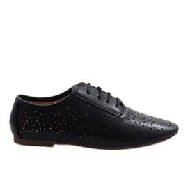 Sapatos de jazz openwork preto Oxford 3