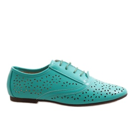 Sapatos de jazz openwork em menta Oxford 3