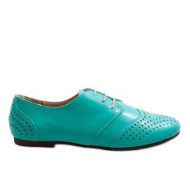 Sapatos de jazz openwork verde Oxford 1