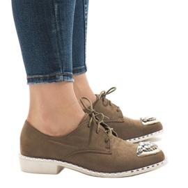 Sapatos deslizantes verdes com lantejoulas L155