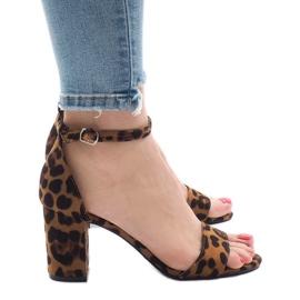 Sandálias de cinco saltos leopardo 5102