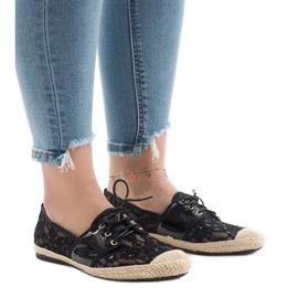 Sapatos de jazz openwork preto, YW-888