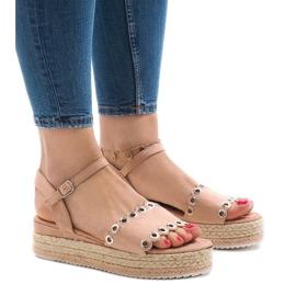 Sandálias rosa na plataforma 99-46 -de-rosa