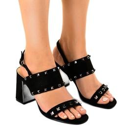 Sandálias de camurça preta 6912-GL preto