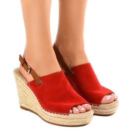 Vermelho Sandálias vermelhas com alpargatas KA-20