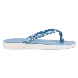 Seastar azul Flip-flops tecidos azuis