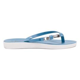 Seastar azul Flip-flops com arco