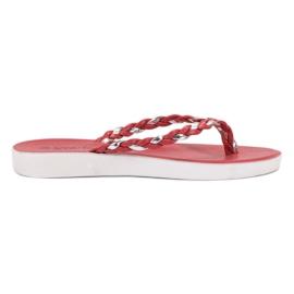 Seastar Flip-flops tecidos vermelhos