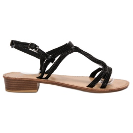SHELOVET Sandálias nos saltos preto