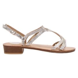 SHELOVET Sandálias nos saltos cinza