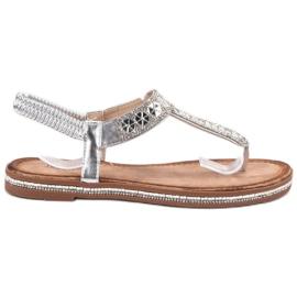 SHELOVET Sandálias De Prata cinza