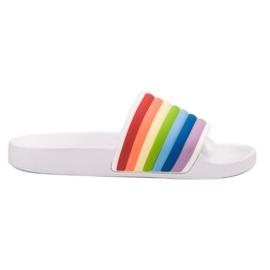 Sweet Shoes Chinelos de borracha coloridos branco multicolorido