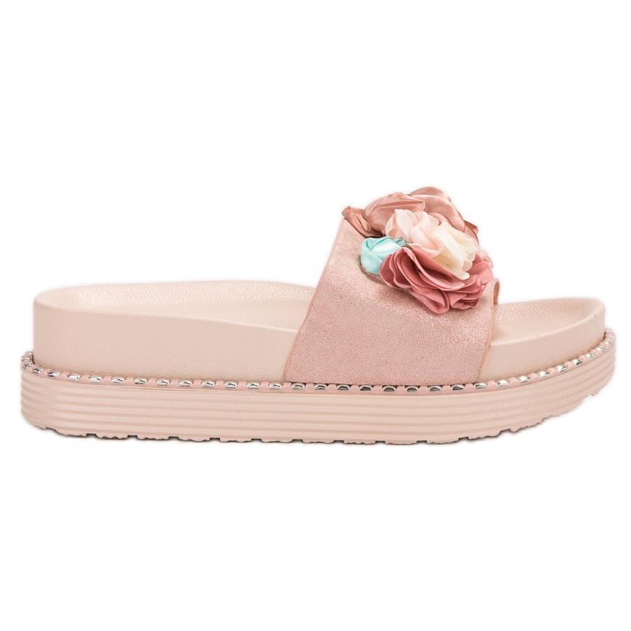 Bello Star de rosa Chinelos na plataforma ButyModne.pl