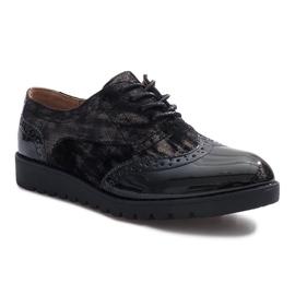 Preto Sapatos de camurça preta Adele