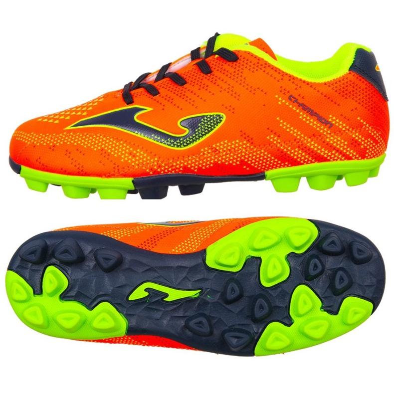 Botas de futebol Joma Champion Jr 908 Fg CHAJW.908.24 roxo, laranja laranja