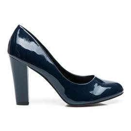 Sweet Shoes azul Bombas Lacadas Em Um Bar