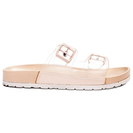 Ideal Shoes marrom Flaps Transparente Se Fivela