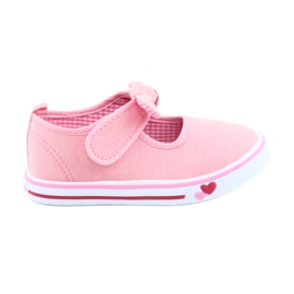 American Club -de-rosa Sapatilhas de tênis arco TEN42
