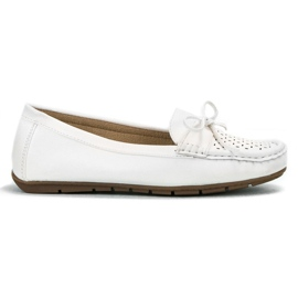 SHELOVET branco Mocassins casuais