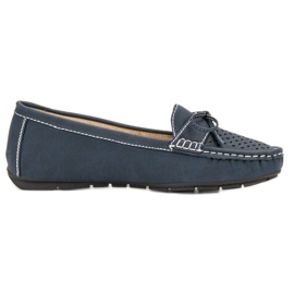 SHELOVET azul Mocassins casuais