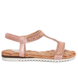 Sandálias femininas rosa HT-67 rosa -de-rosa
