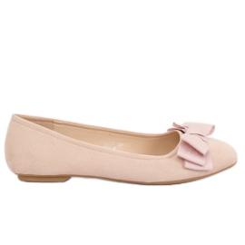 Marrom Sapatos femininos de cor da coxa 3173 Bege