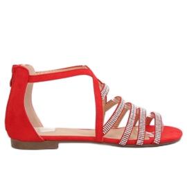 Sandálias das mulheres vermelhas LL6339 Vermelho